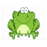 Glücklicher Frosch-Cartoon-Charakter Postkarte