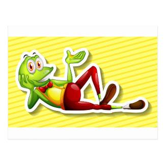 Glücklicher Frosch Postkarte