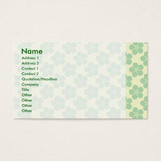 Glücklicher fünf Blatt-Klee Visitenkarte