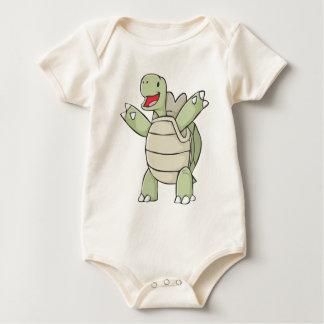 Glücklicher Galapagos-Schildkröten-Cartoon Baby Strampler