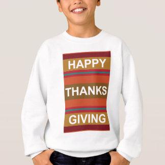 Glücklicher gebender Dank - moderner Erntedank Sweatshirt