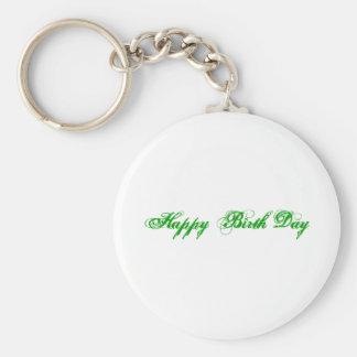 Glücklicher Geburts-Tag Standard Runder Schlüsselanhänger