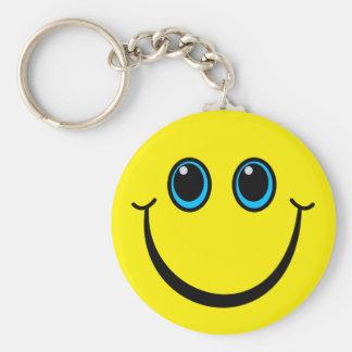 Glücklicher gelber Smiley Schlüsselanhänger