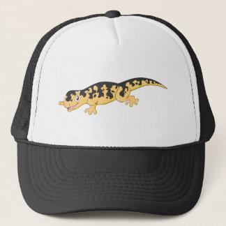 Glücklicher gepunkteter Salamander-Cartoon Truckerkappe