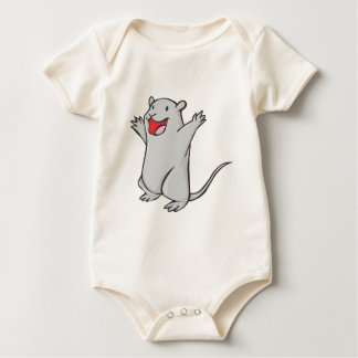 Glücklicher Gerbil-Cartoon Baby Strampler