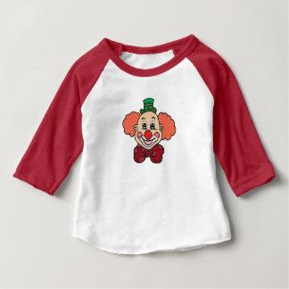 Glücklicher Gesichts-Clown Baby T-shirt