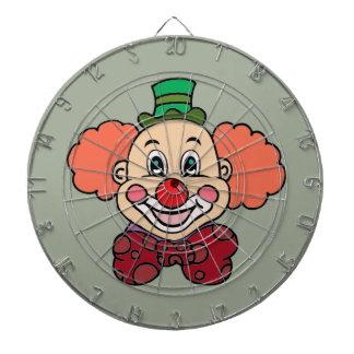 Glücklicher Gesichts-Clown Dartscheibe
