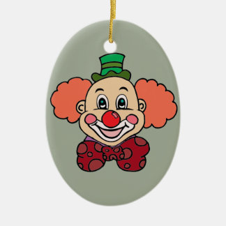 Glücklicher Gesichts-Clown Keramik Ornament