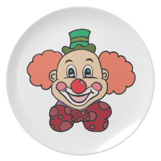 Glücklicher Gesichts-Clown Melaminteller
