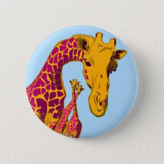 Glücklicher Giraffen-Knopf Runder Button 5,7 Cm