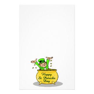 Glücklicher Goldschatz St. Patricks Tages Briefpapier