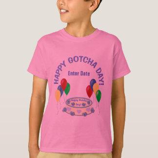 Glücklicher Gotcha Tag T-Shirt