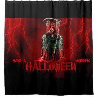 Glücklicher grimmiger Sensenmann Halloweens Duschvorhang