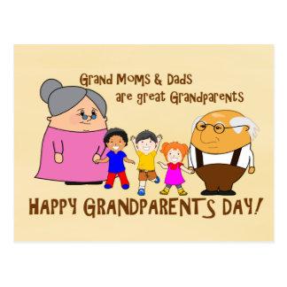 Glücklicher Großeltern-Tag! Postkarte