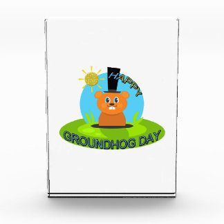 Glücklicher Groundhog Day-Sonnenschein Acryl Auszeichnung