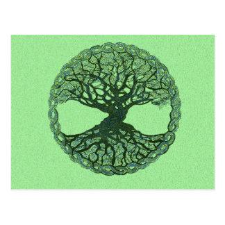 Glücklicher grüner Baum des Lebens Postkarten