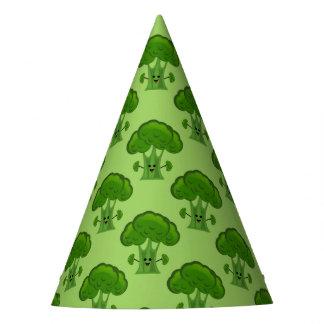 Glücklicher grüner Brokkoli Partyhütchen