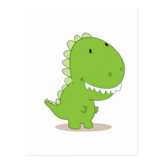Glücklicher grüner Dino Postkarte