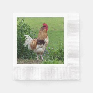 Glücklicher Hahn Papierserviette