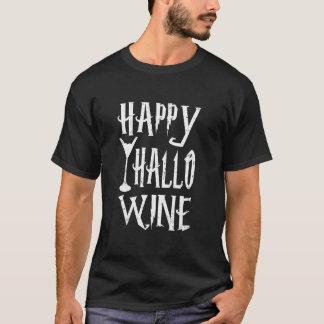 GLÜCKLICHER HALLO-WEIN T-Shirt