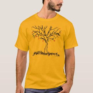 Glücklicher Halloween-Baum u. Blatt-Shirt T-Shirt