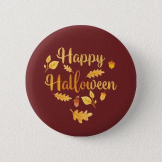 Glücklicher Halloween-Button-Herbst-Knopf Runder Button 5,1 Cm