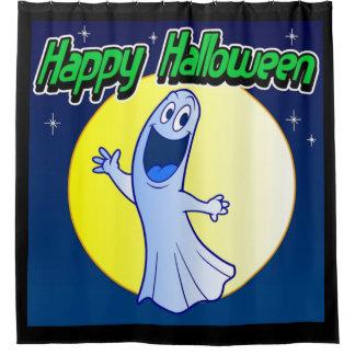 Glücklicher Halloween-Geist Duschvorhang