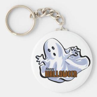 Glücklicher Halloween-Geist Schlüsselanhänger