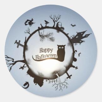 Glücklicher Halloween-Gruß Runde Sticker