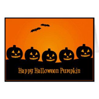 Glücklicher Halloween-Kürbis - Halloween-Karte Karte