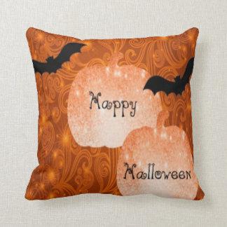 glücklicher Halloween-Kürbis und Schlägerkissen Kissen