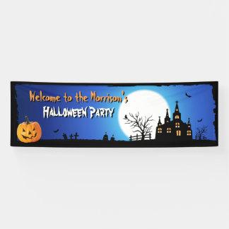 Glücklicher Halloween-Party-blauer Banner