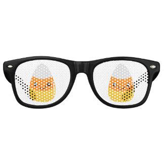 Glücklicher Halloween-Süßigkeits-Mais Emoji Partybrille