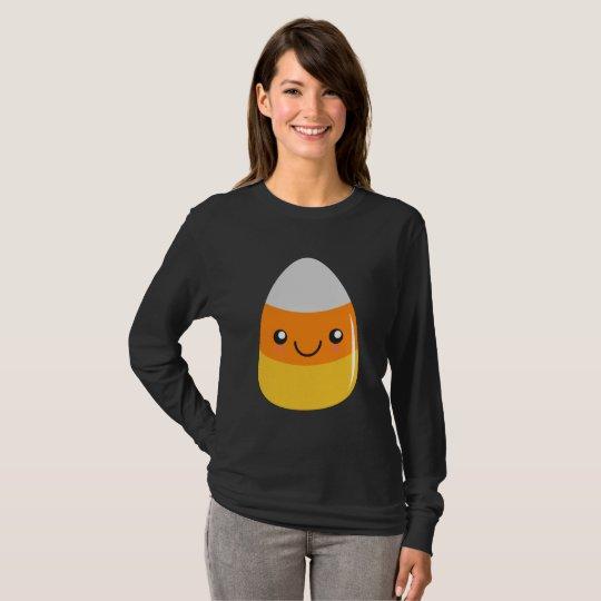 Glücklicher Halloween-Süßigkeits-Mais Emoji T-Shirt