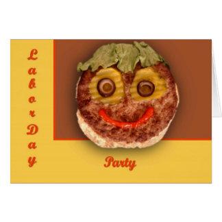 Glücklicher Hamburger Karte