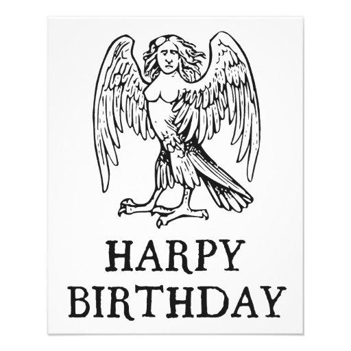 Glücklicher Harpy-Geburtstag Flyerbedruckung