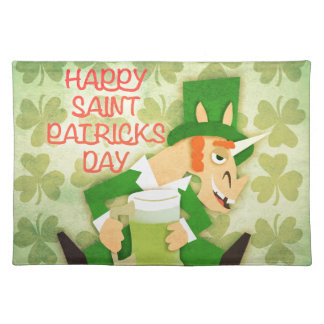 Glücklicher Heiligen Patrick Tag Tischset