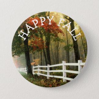 Glücklicher Herbst-Herbstfarben-Knopf Runder Button 7,6 Cm
