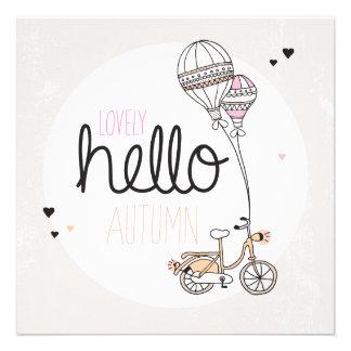 Glücklicher Herbstpostkartenentwurf Individuelle Ankündigungskarte