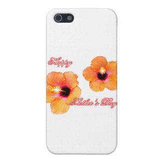 Glücklicher Hibiskus-orange Weiß BG der Mutter Tag Hülle Fürs iPhone 5