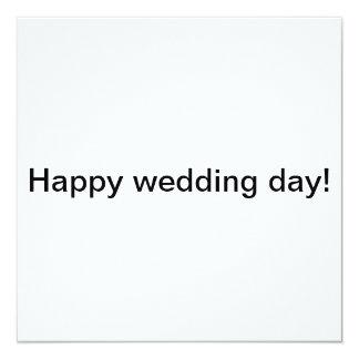 Glücklicher Hochzeitstag! Quadratische 13,3 Cm Einladungskarte