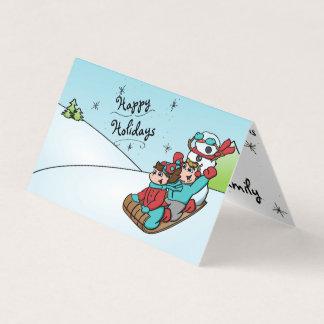 Glücklicher HolidayZ Schneemann-faltende Karte