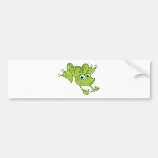 Glücklicher Hopfen-Frosch Autoaufkleber