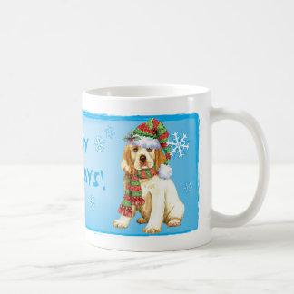 Glücklicher Howliday Clumber Spaniel Kaffeetasse