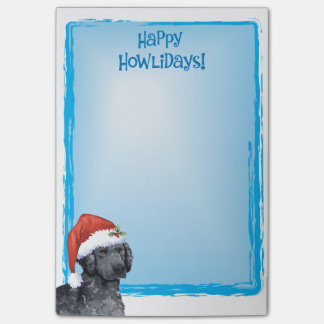 Glücklicher Howlidays Curly-Coated Retriever Post-it Haftnotiz