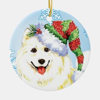 Glücklicher Howlidays Samoyed Keramik Ornament