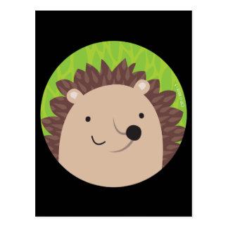 Glücklicher Igel - Waldfreunde Postkarte