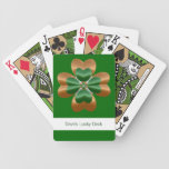 Glücklicher irischer Kleeblatt-Klee-Spielkarten