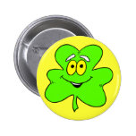 Glücklicher irischer Kleeblatt-Knopf Anstecknadel