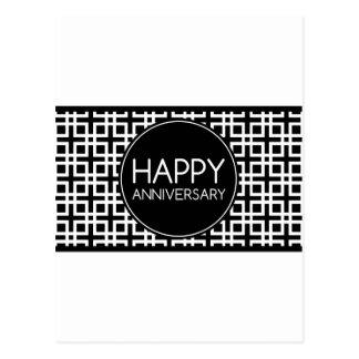Glücklicher Jahrestag (cinderStripe) Postkarte